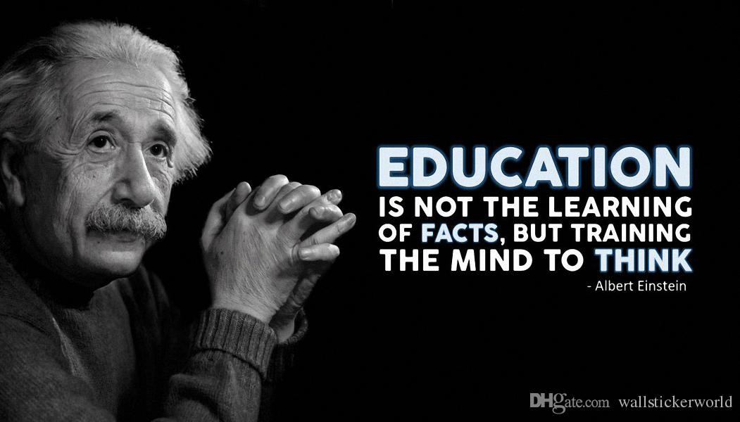 Einstein Quotes On Education  2019 Education Albert Einstein Quotes Motivational Poster