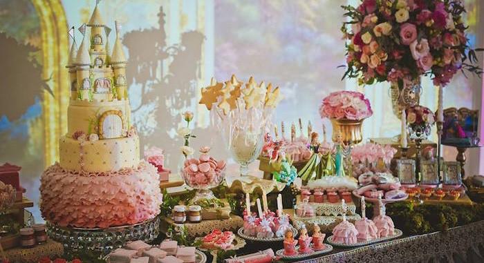 Elegant Pool Party Ideas  Kara s Party Ideas Elegant Princess Birthday Party