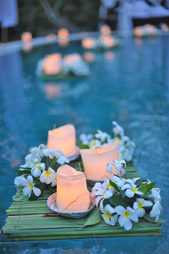 Elegant Pool Party Ideas  25 best ideas about Backyard wedding pool on Pinterest