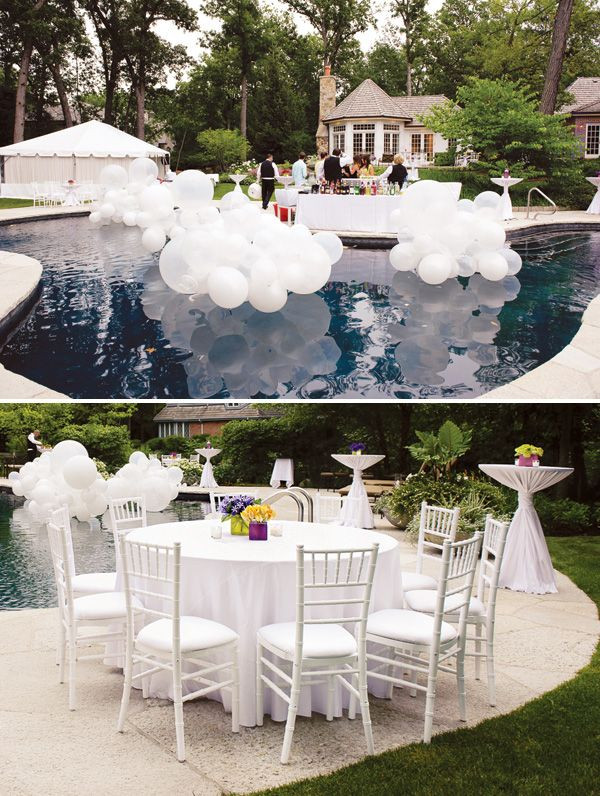 Elegant Pool Party Ideas  Colorful Summer 30th Birthday Party