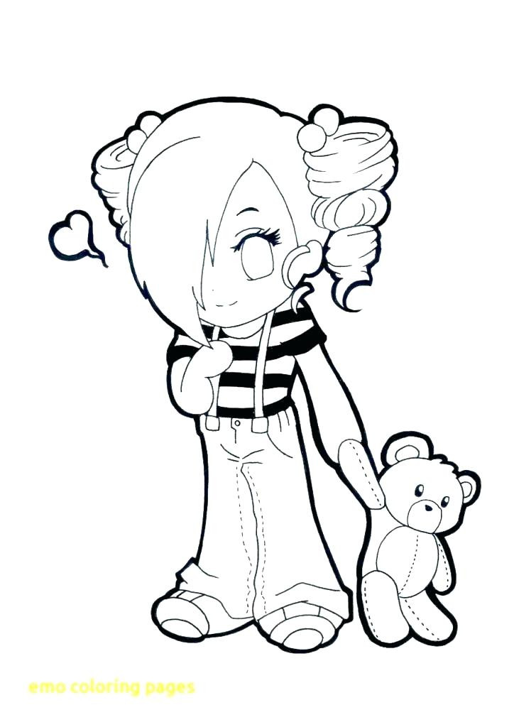 Emo Boys Coloring Pages  Cute Emo Coloring Pages at GetColorings