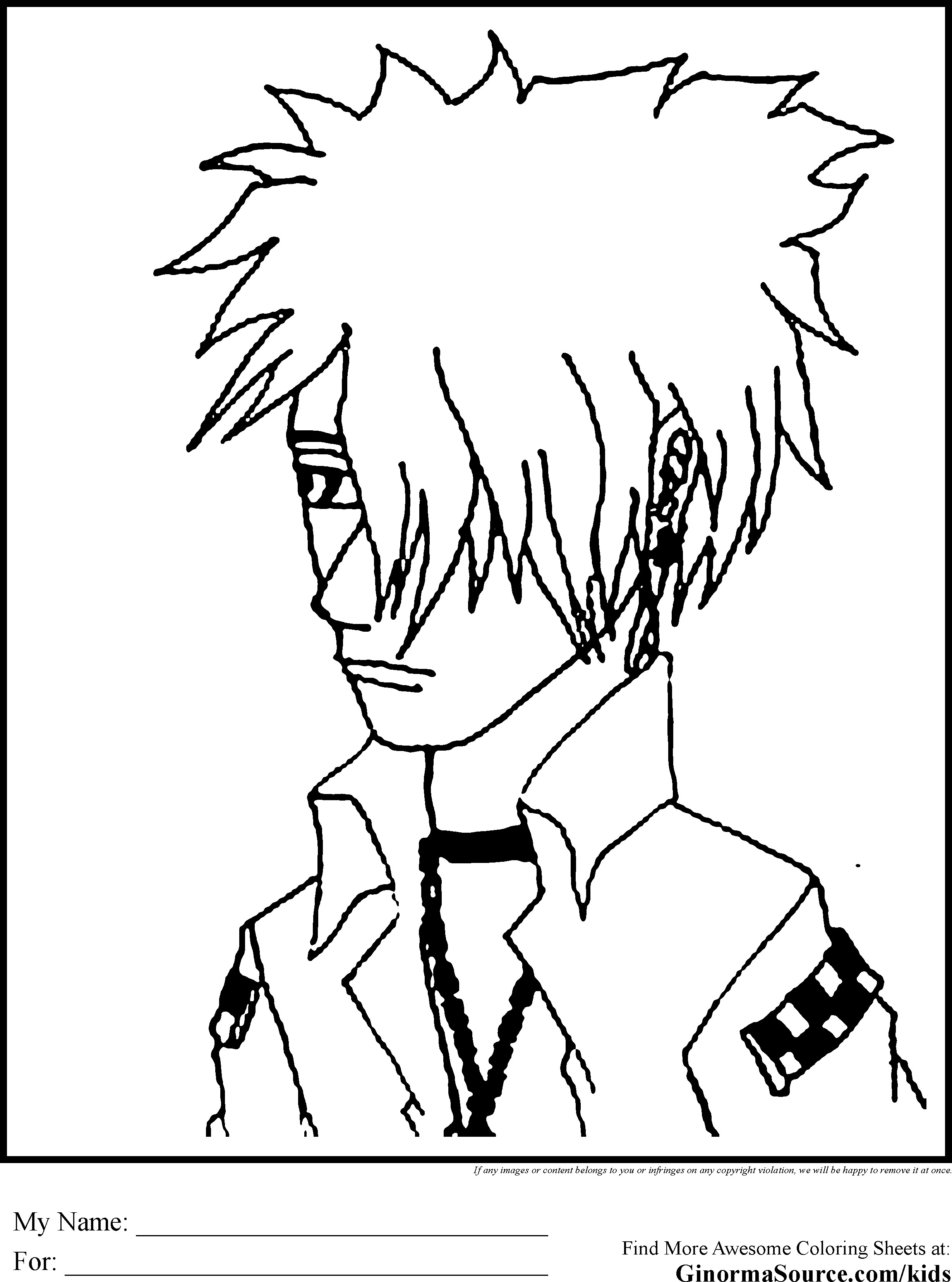Emo Boys Coloring Pages  Emo Coloring Pages Boy GINORMAsource Kids