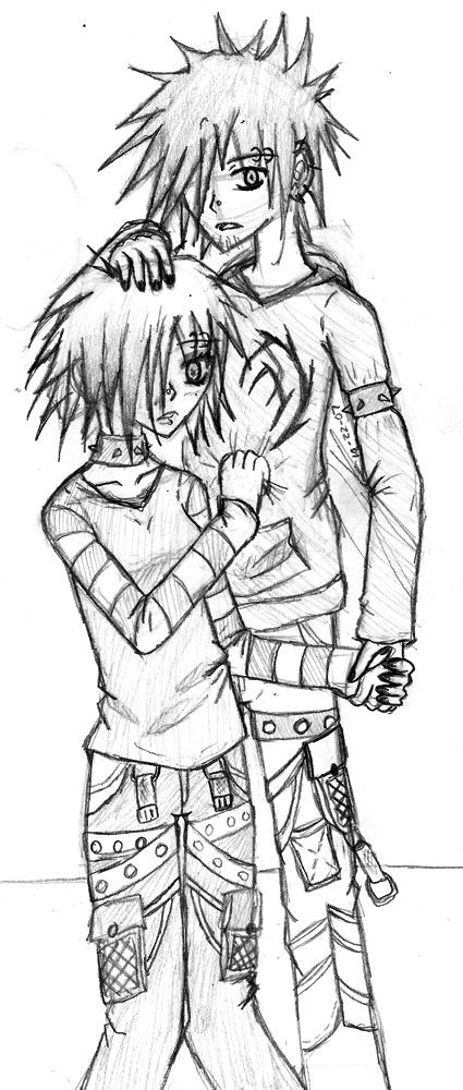 Emo Boys Coloring Pages  emo anime coloring pages 259