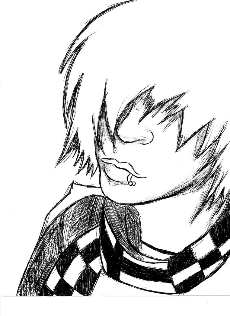 Emo Boys Coloring Pages  Coloring Anime Emo Boy Coloring Pages
