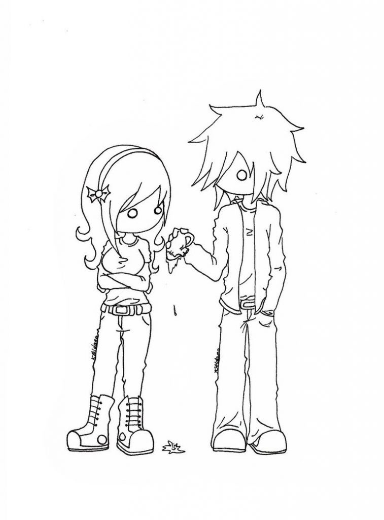 Emo Boys Coloring Pages  Free Printable Emo Coloring Pages For Kids Best Coloring