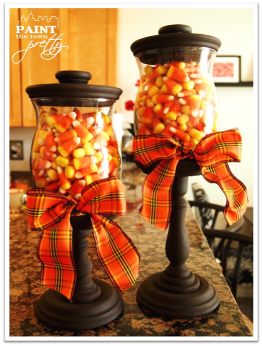 Fall Craft For Adults  Fall Candy Corn Jars