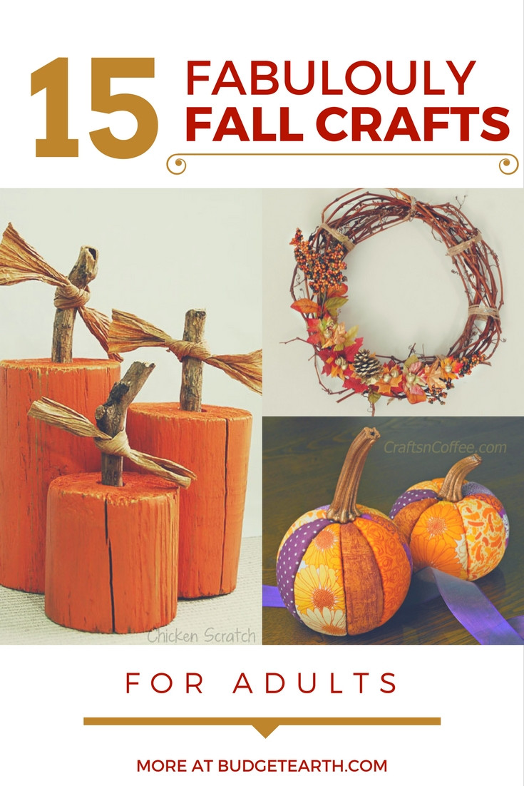 Fall Craft For Adults  15 Fabulously Fall Crafts for Adults
