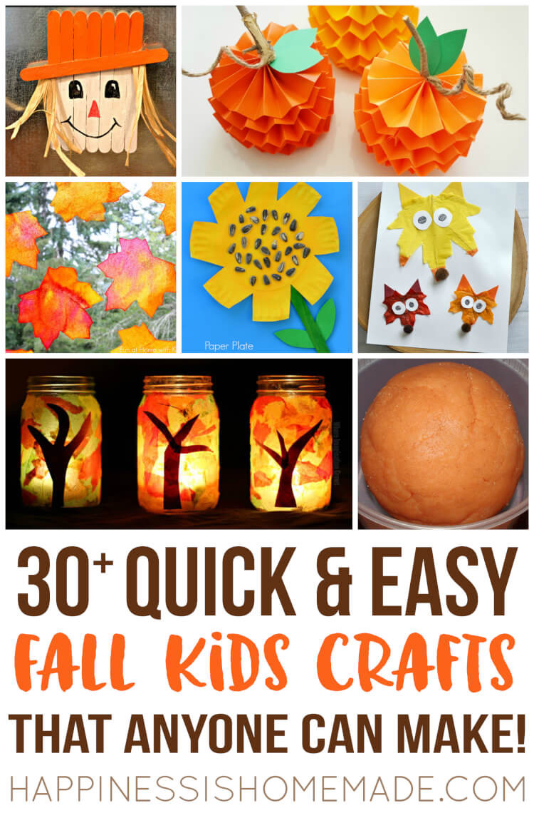 Fall Crafts Ideas For Kids  Easy Fall Kids Crafts That Anyone Can Make Happiness is