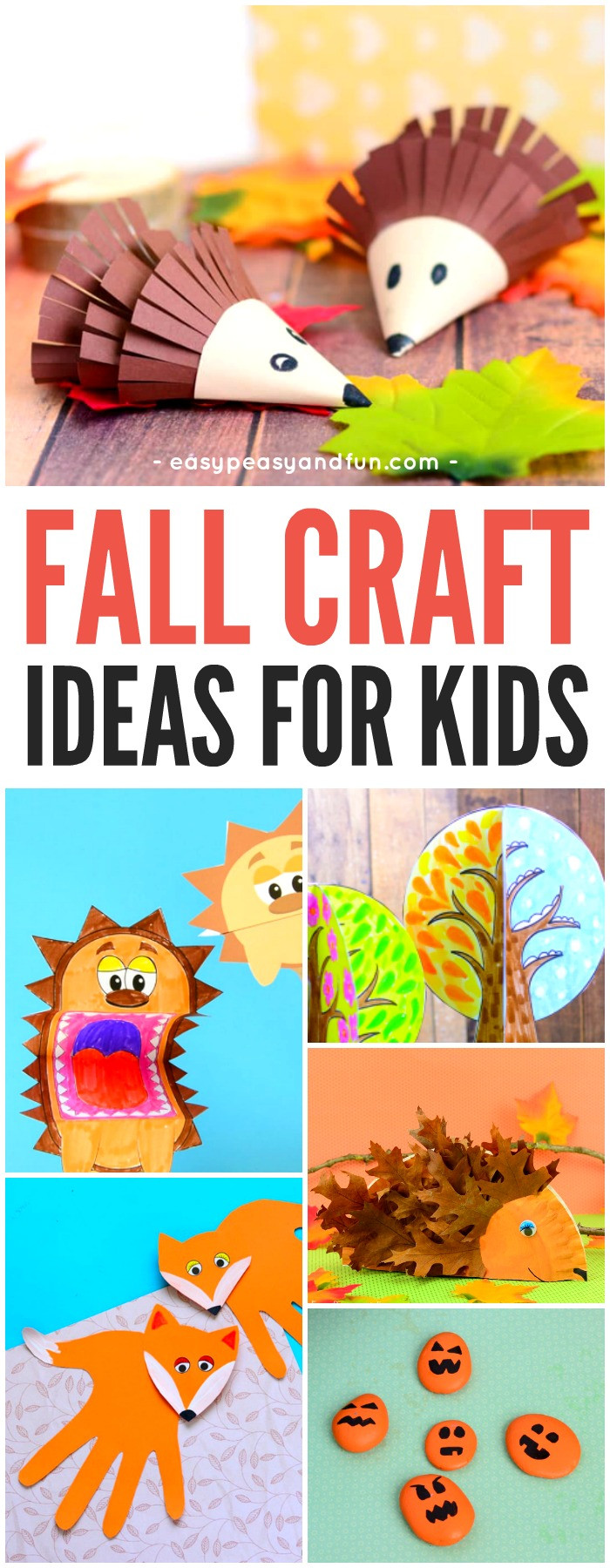 Fall Crafts Ideas For Kids  Fall Crafts For Kids Art and Craft Ideas Easy Peasy