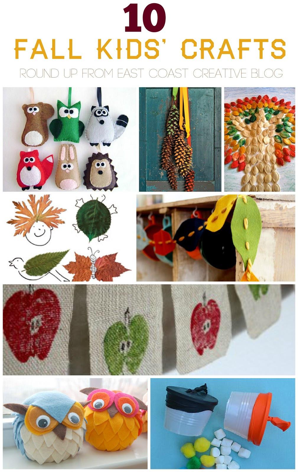 Fall Crafts Ideas For Kids  10 Fall Kids Crafts