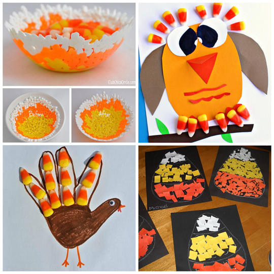 Fall Crafts Ideas For Kids  Candy Corn Crafts for Kids to Make Crafty Morning
