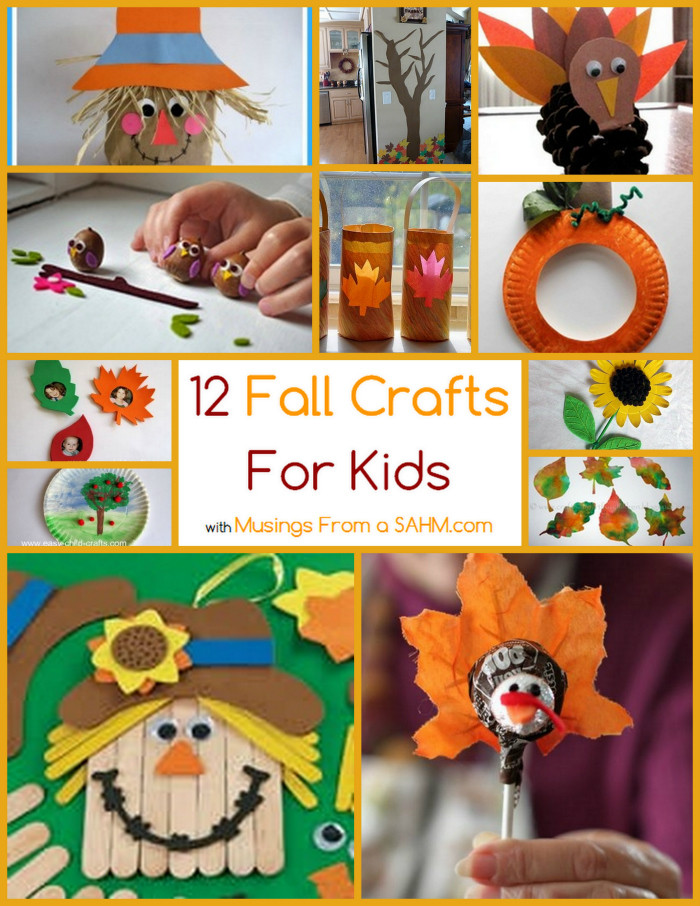 Fall Crafts Ideas For Kids  12 Fall Crafts for Kids Musings From a Stay At Home Mom