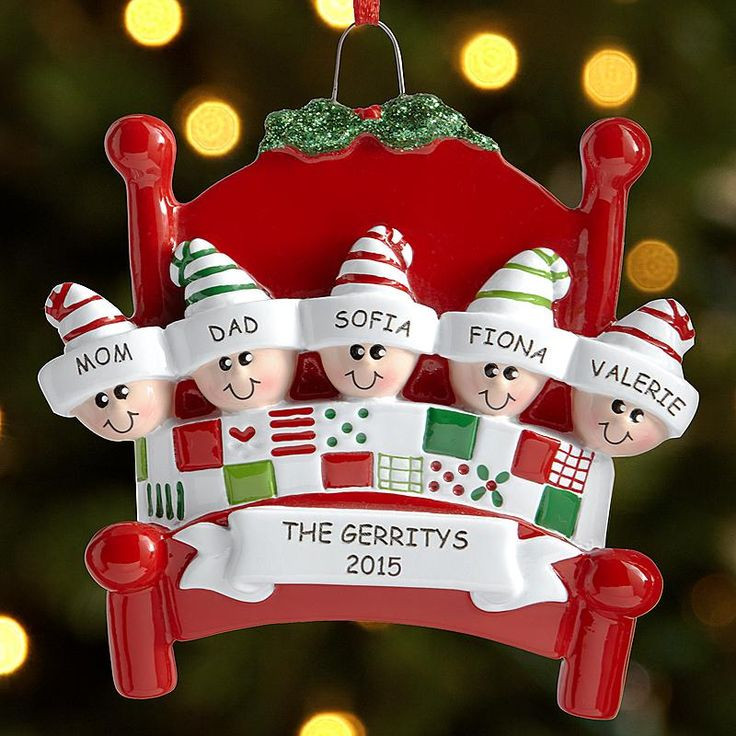 Family Christmas Gift Ideas 2019  Snuggle Up Family Ornament