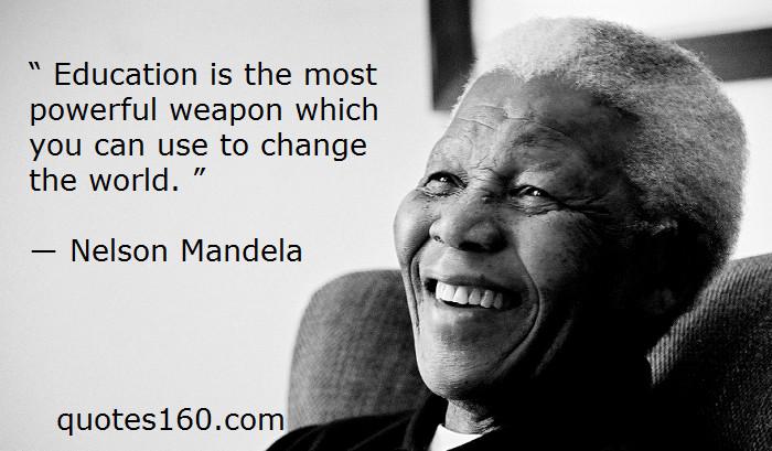 Famous Education Quotes  Quotes About Education Nelson Mandela QuotesGram
