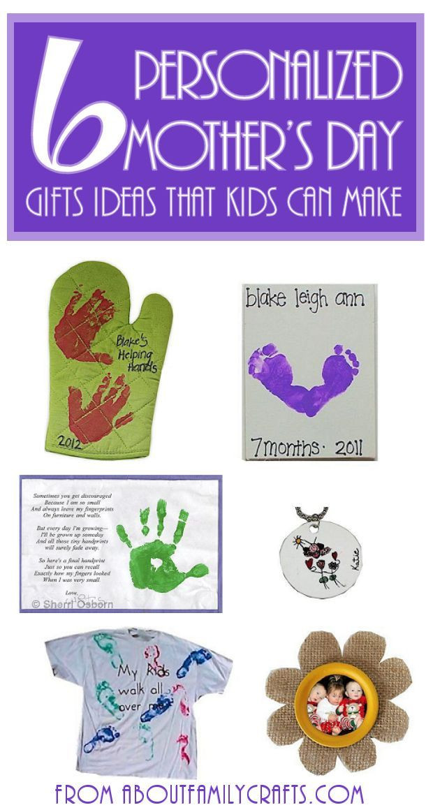Father'S Day Gift Ideas From Toddler  6 Mother's Day Gifts for Kids to Make e or all of