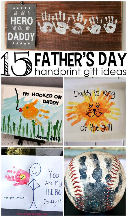 Father'S Day Gift Ideas From Toddler  Father s Day Handprint Gift Ideas from Kids