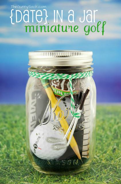 Father'S Day Golf Gift Ideas  Mini Golf Mason Jar Gift Mason Jar Crafts Love