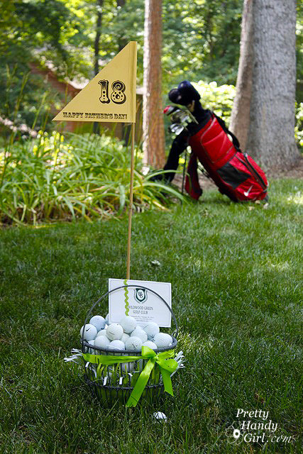 Father'S Day Golf Gift Ideas  Father s Day Gift Idea Golf Gift Basket Pretty Handy Girl
