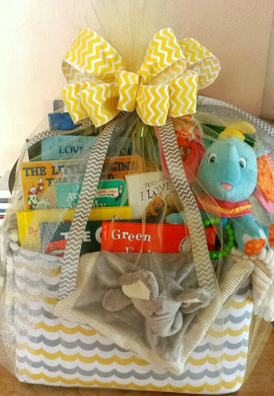 First Baby Gift Ideas  Baby s First Library Basket Gift