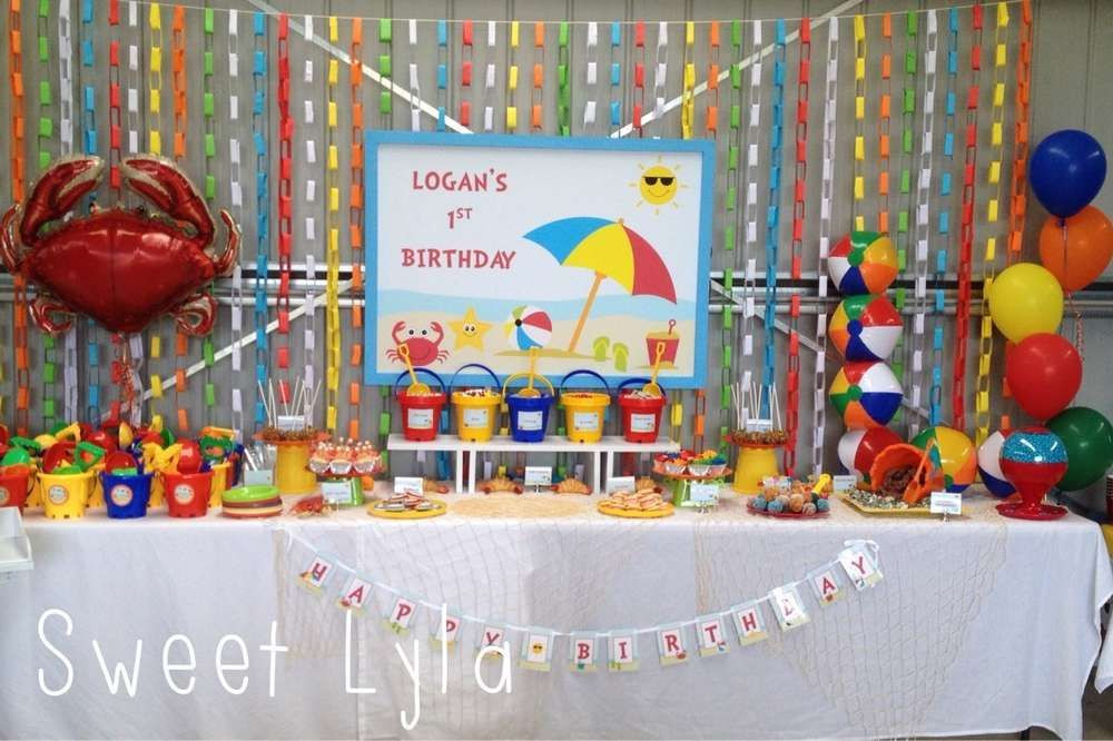First Birthday Pool Party Ideas  Beach Theme Birthday Party Ideas in 2019
