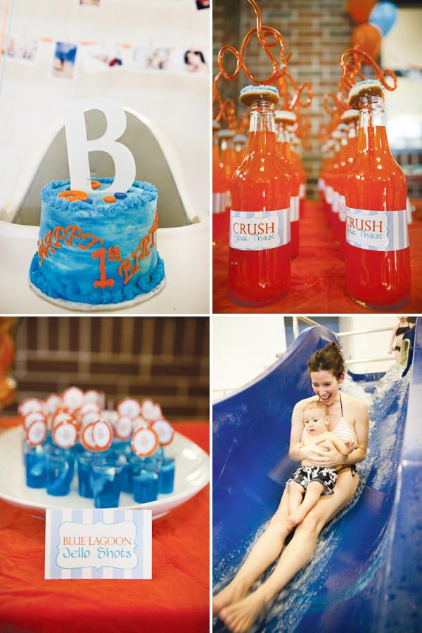 First Birthday Pool Party Ideas  Splish Splash Creative Pool Party First Birthday