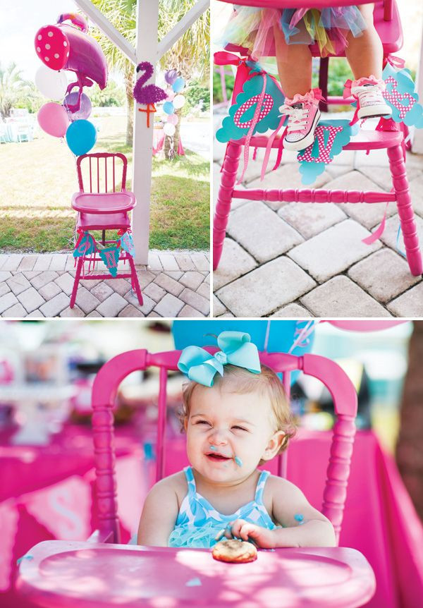 First Birthday Pool Party Ideas  A Fabulous Flamingo First Birthday Pool Party