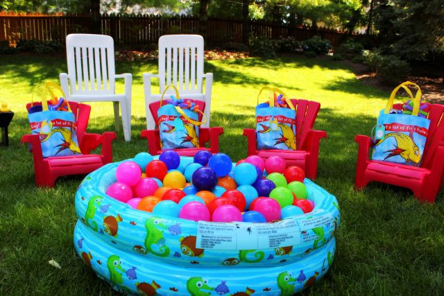 First Birthday Pool Party Ideas  Kids party favor for first birthday Red plastic andorak