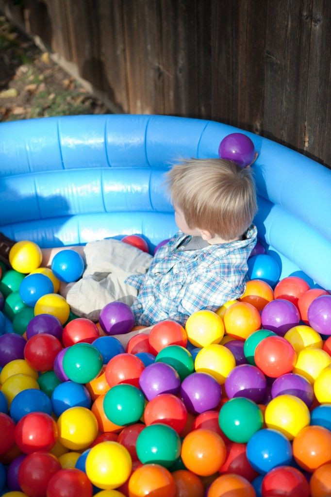 First Birthday Pool Party Ideas  Brox s Primary Color First Birthday Party