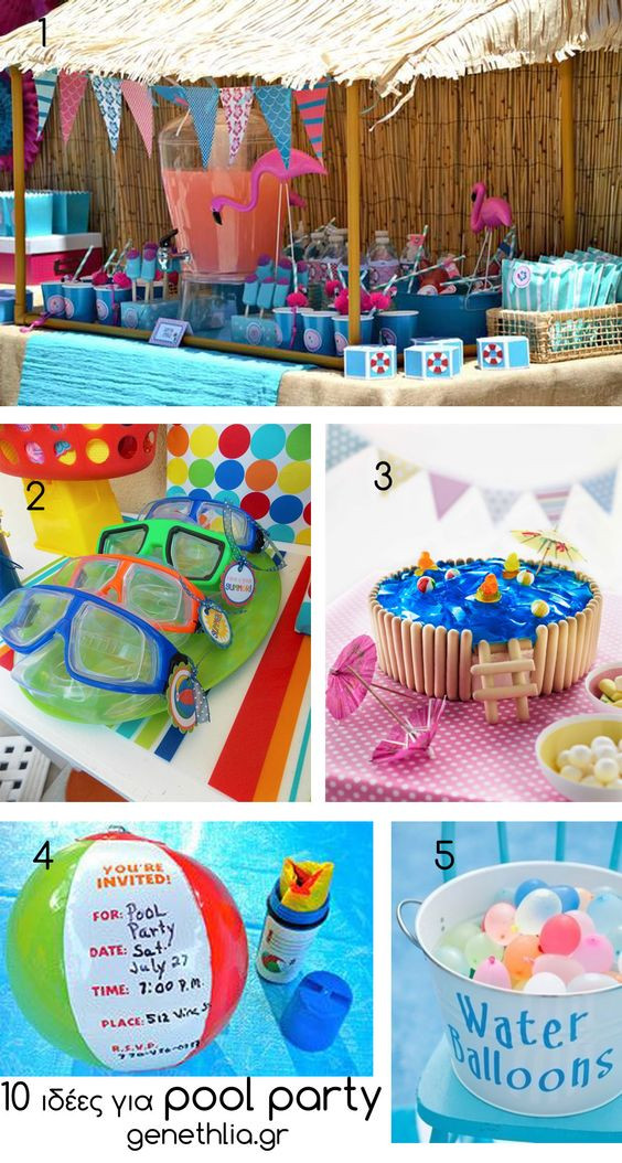 First Birthday Pool Party Ideas  10 pool party ideas Party Ideas Pinterest