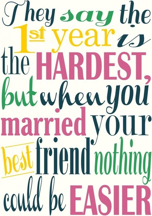First Year Of Marriage Quotes  Happy First Anniversary s and for