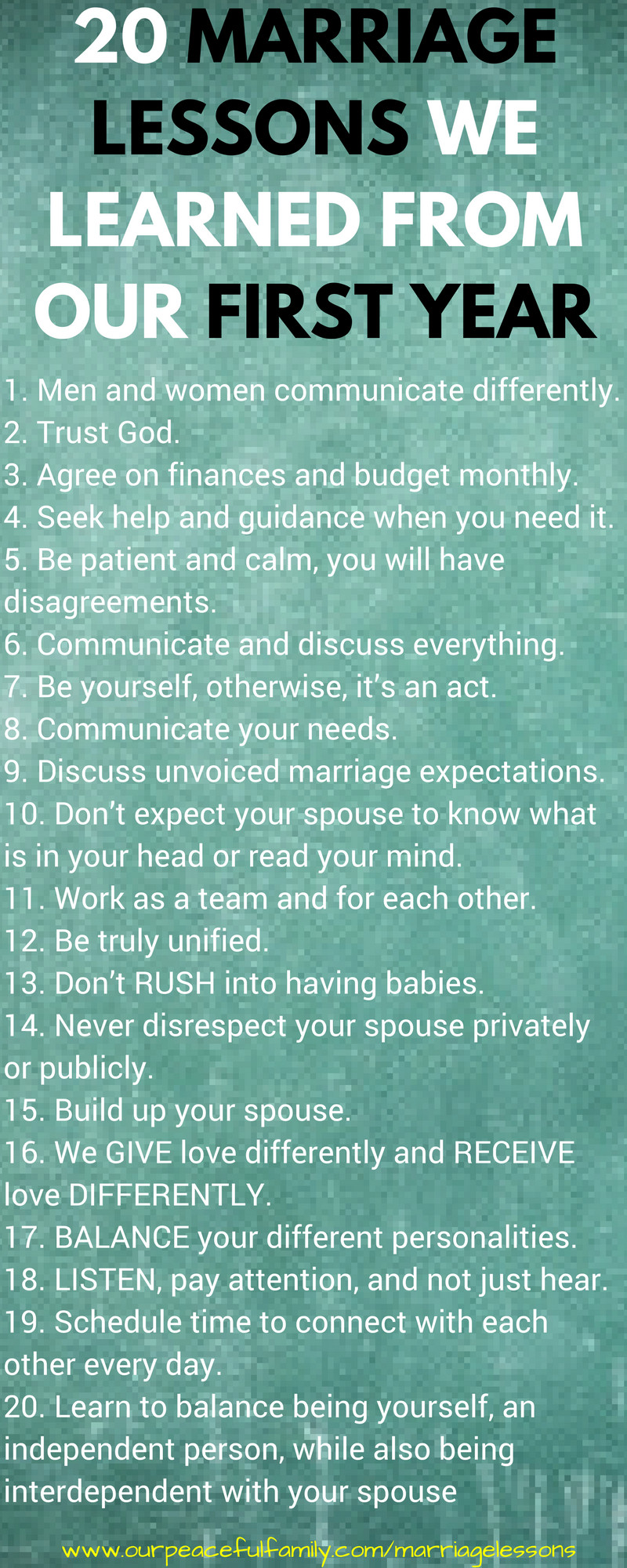 First Year Of Marriage Quotes  20 Marriage Lessons We Learned From Our First Year of