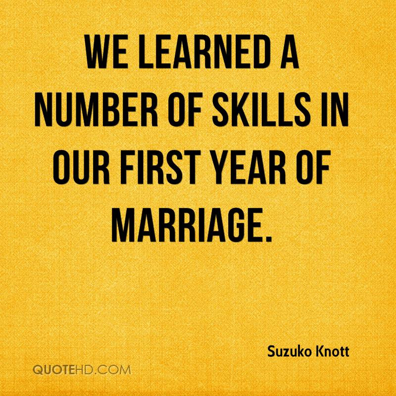 First Year Of Marriage Quotes  Suzuko Knott Marriage Quotes