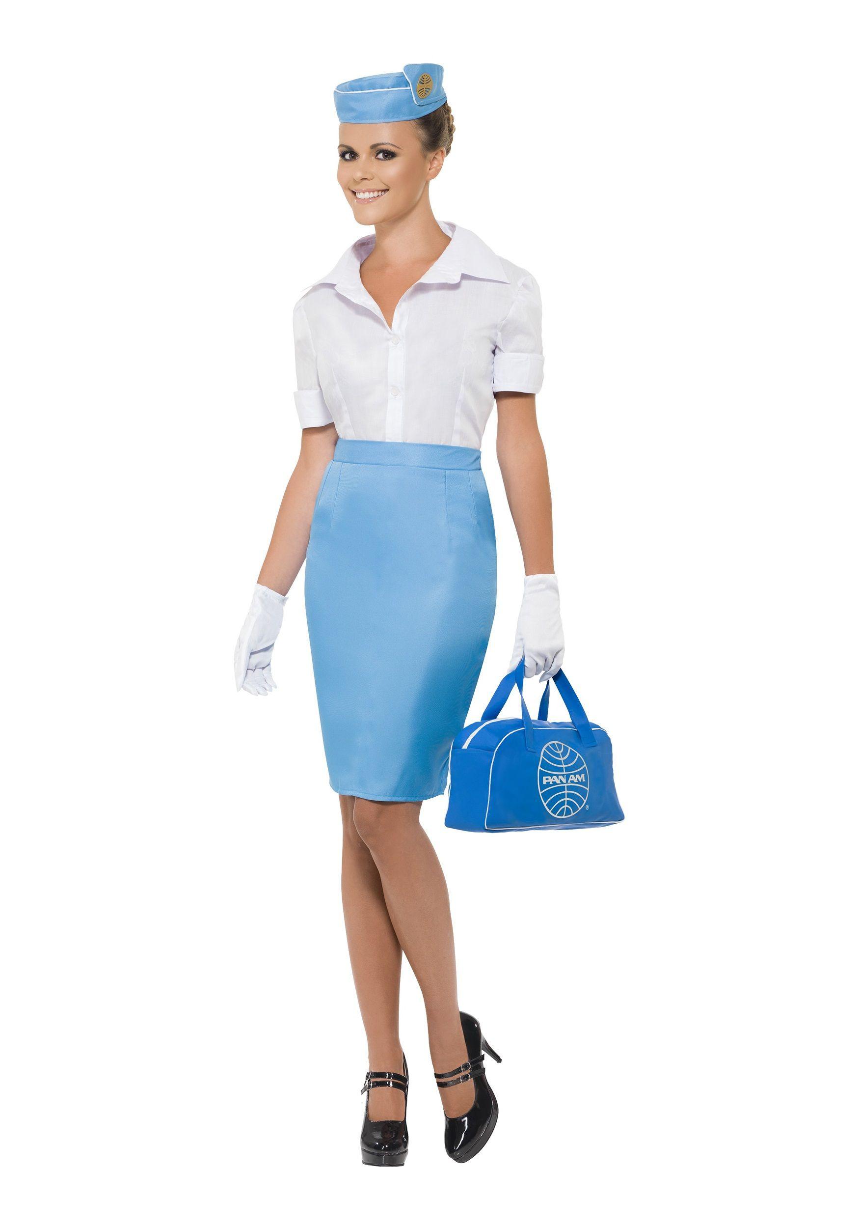 Flight Attendant Costumes DIY  Womens Pan Am Flight Attendant Costume