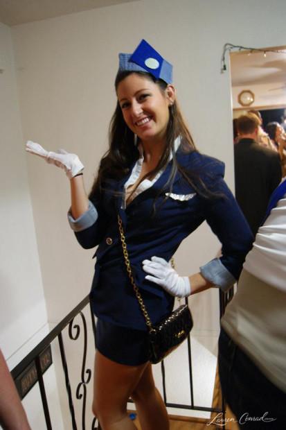 Flight Attendant Costumes DIY  Halloween DIY Pan Am Air Stewardess Costume Lauren Conrad