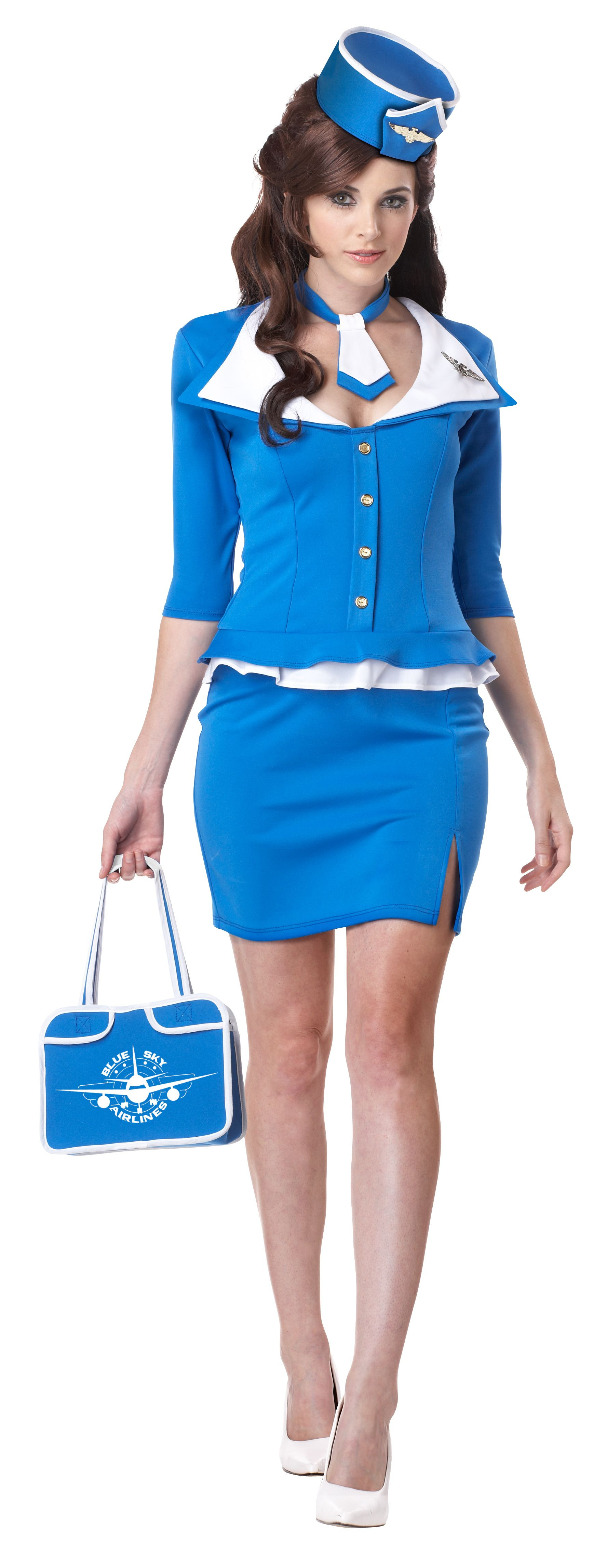 Flight Attendant Costumes DIY  Retro Flight Stewardess Costume 60s Style