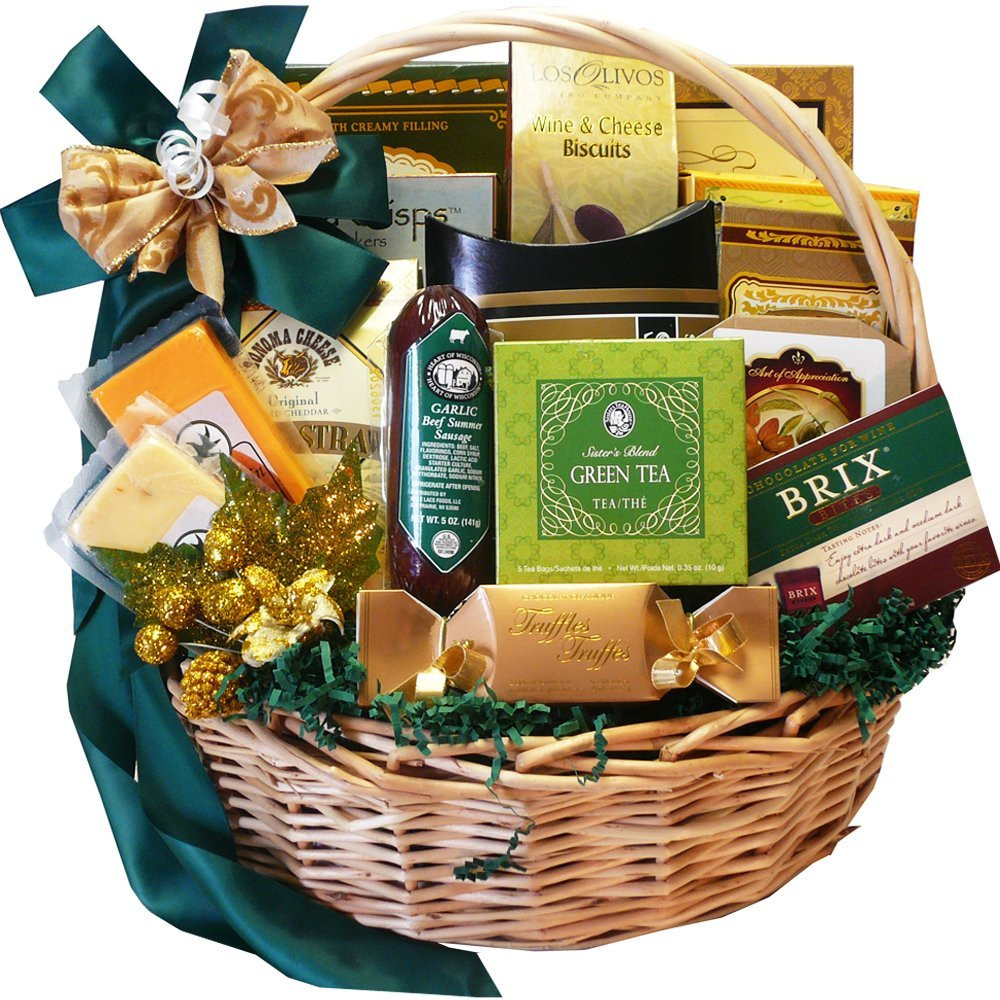 Food Gift Baskets Ideas  Gourmet Food Gift Baskets Best Cheeses Sausages Meat