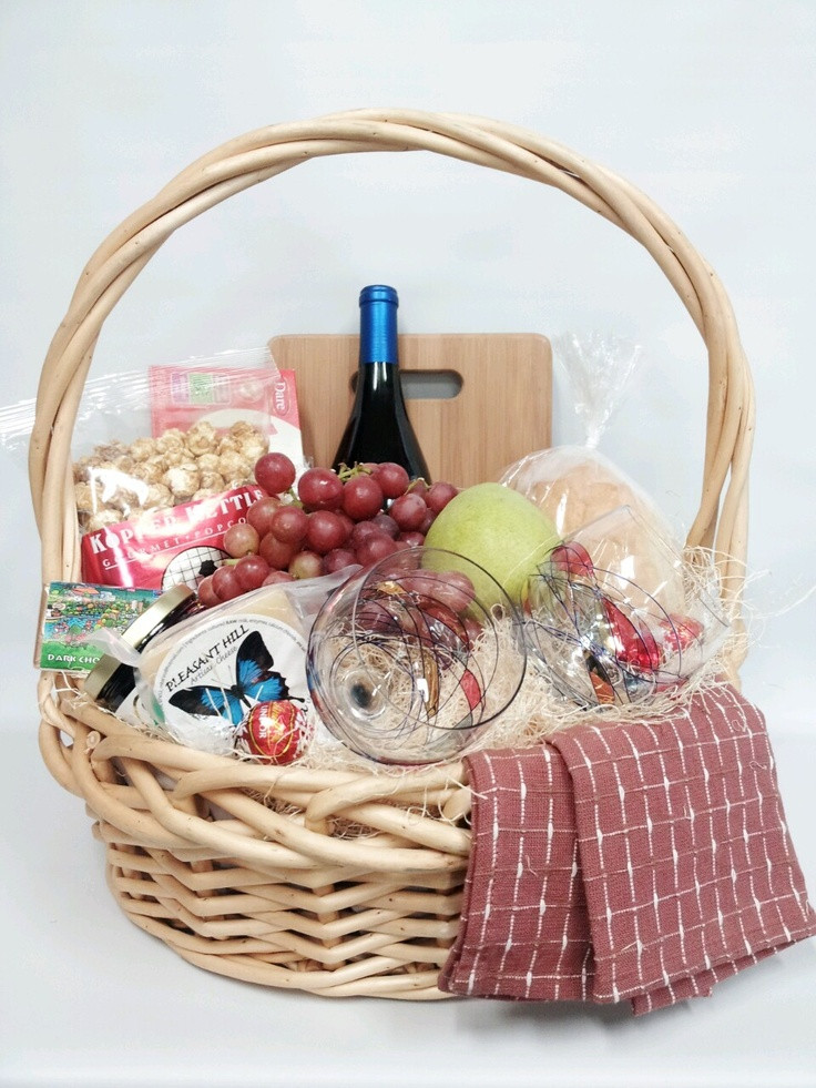 Food Gift Baskets Ideas  Gourmet & Gluten food and wine basket as a Christmas t