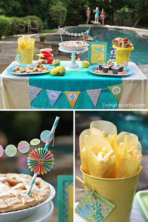 Food Ideas For Pool Party  17 Best images about Party Decorating Ideas on Pinterest