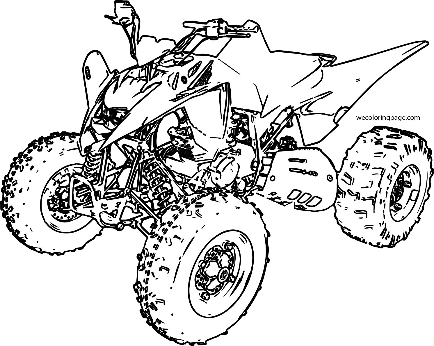 Fourwheeler Coloring Pages For Boys  Sport ATV Yamaha Raptor Coloring Page
