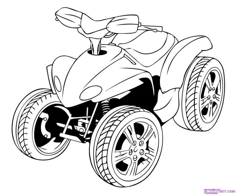 Fourwheeler Coloring Pages For Boys  4 Wheeler Coloring Pages Coloring Home