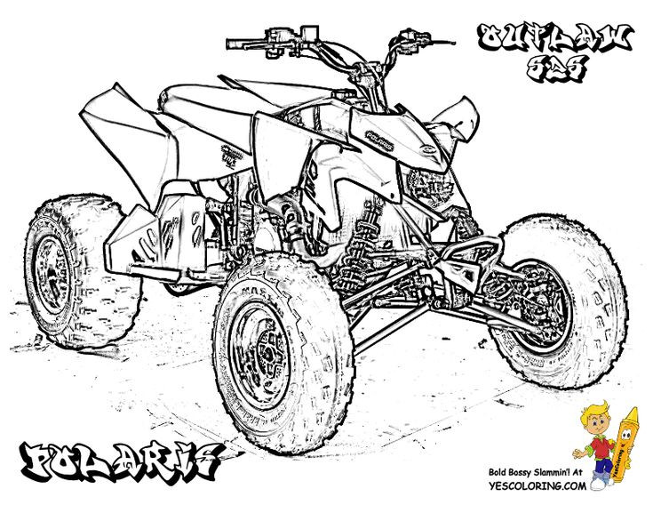 Fourwheeler Coloring Pages For Boys  Four Wheeler Coloring Pages