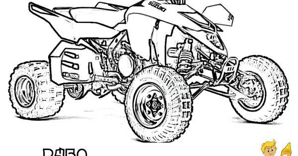 Fourwheeler Coloring Pages For Boys  ATV Coloring Free ATV 4 Wheeler ATV Printables