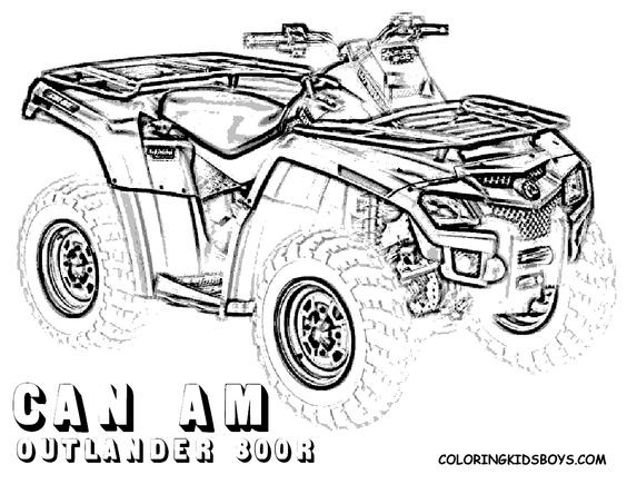 Fourwheeler Coloring Pages For Boys  four wheeler coloring pages of Can Am Outlander 800r at