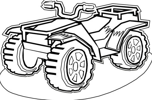 Fourwheeler Coloring Pages For Boys  Quad ATV 15 Transportation – Printable coloring pages