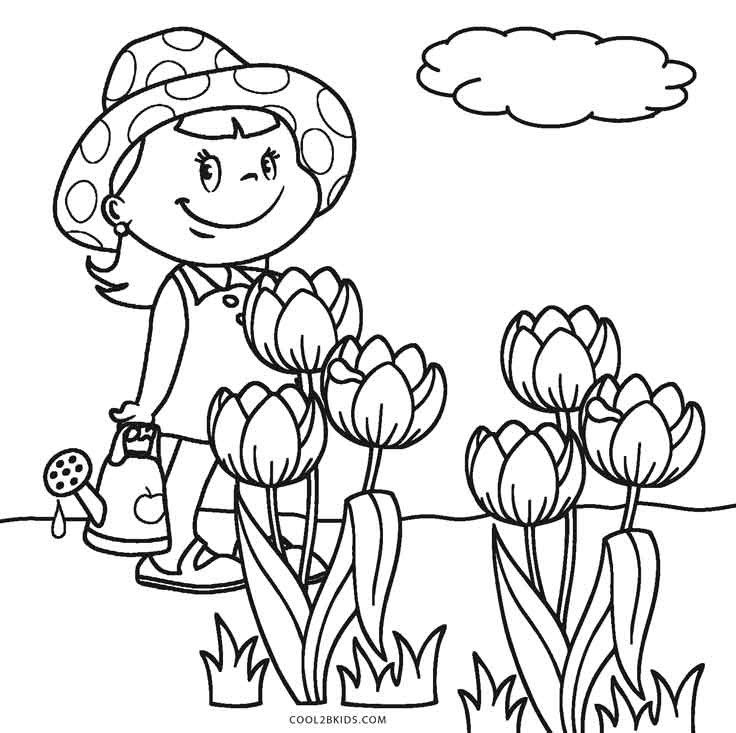 Free Flower Coloring Pages For Kids  Free Printable Flower Coloring Pages For Kids
