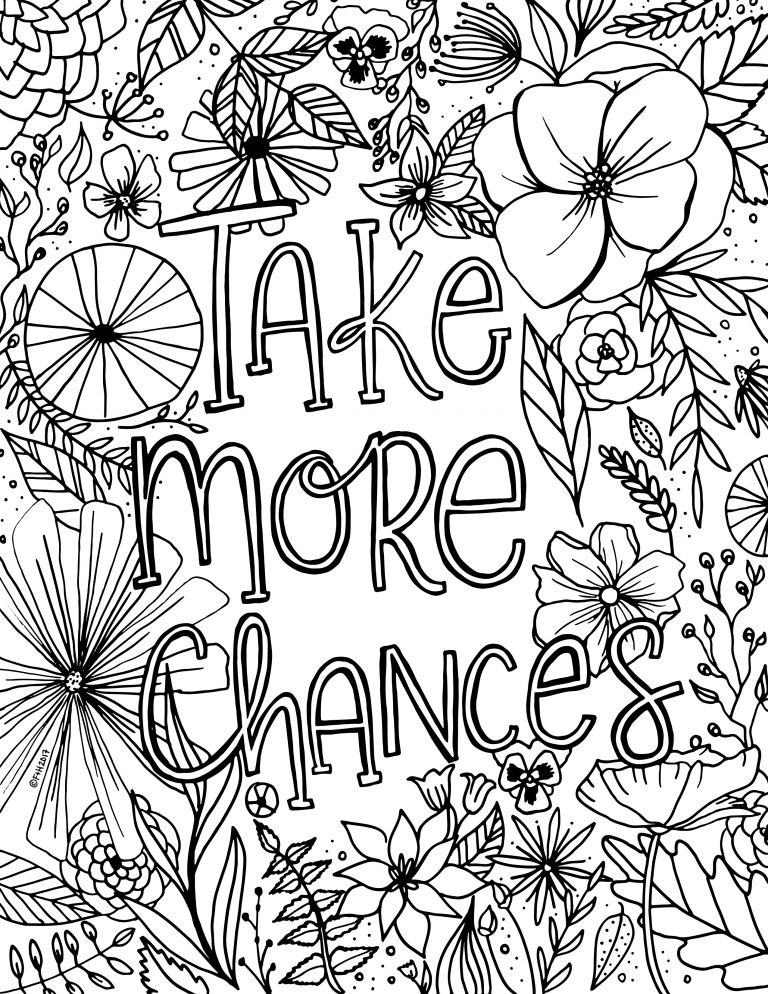 Free Flower Coloring Pages For Kids  Free Encouragement Flower Coloring Page Printable