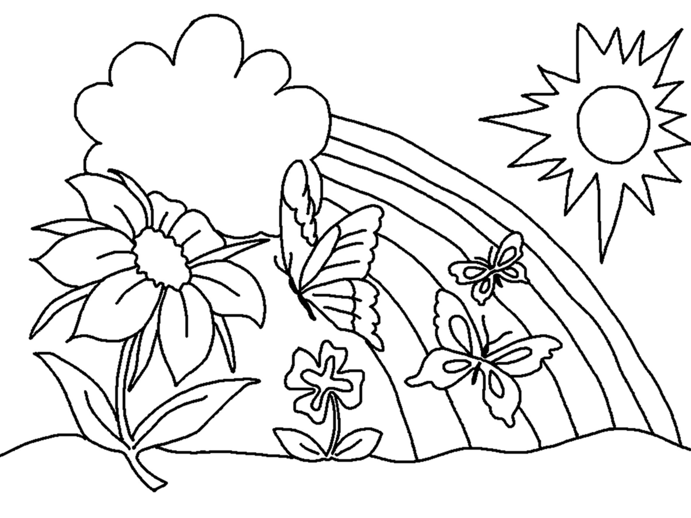 Free Flower Coloring Pages For Kids  Free Printable Flower Coloring Pages For Kids Best