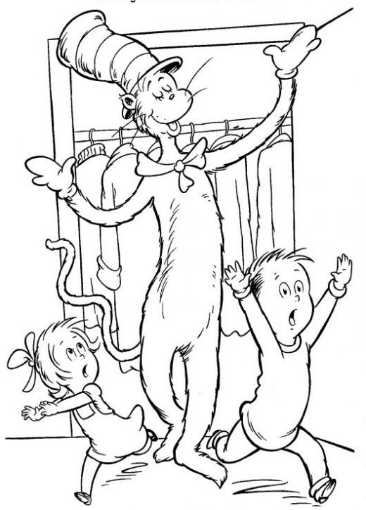 Free Printable Dr.Seuss Coloring Pages  Fun Coloring Pages Cat in the Hat Coloring Pages Dr Seuss