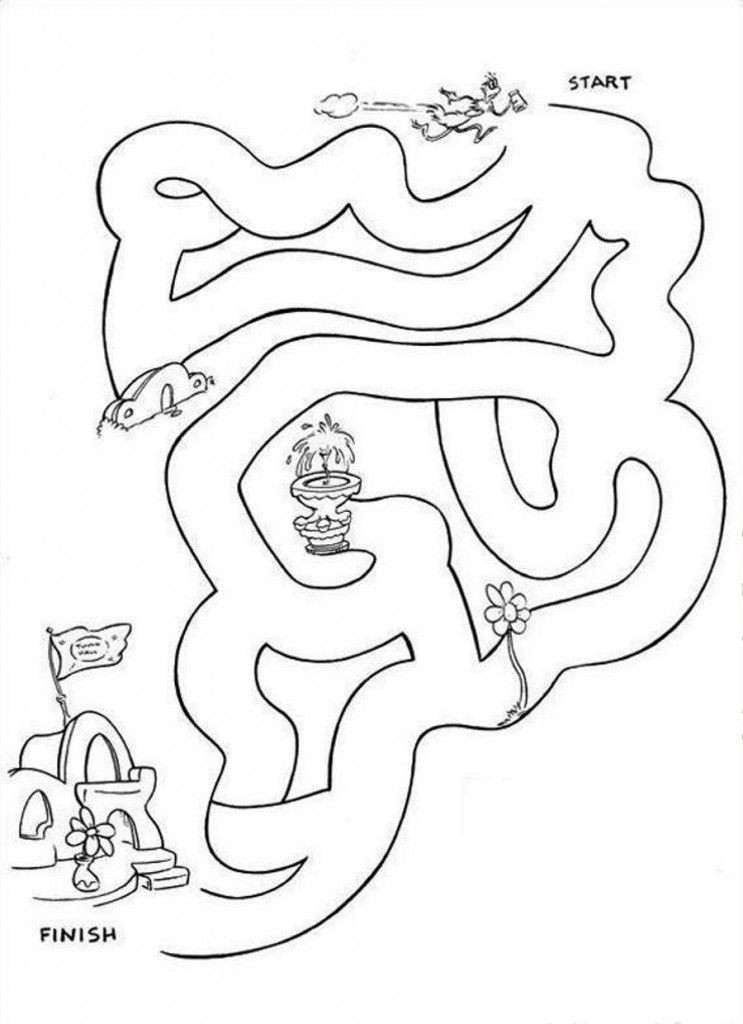Free Printable Dr.Seuss Coloring Pages  Dr Seuss Printable Coloring Pages Coloring Home