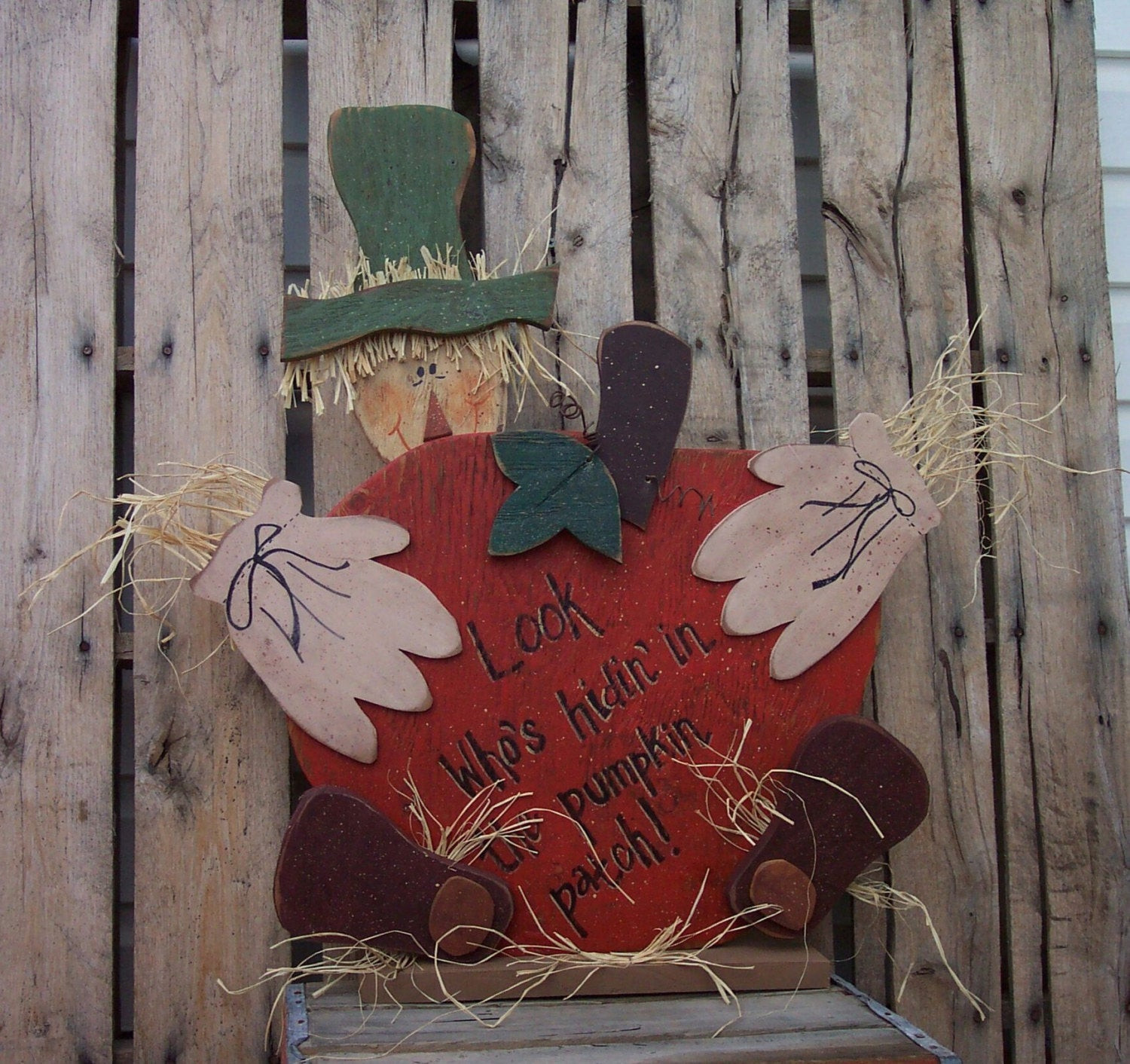 Free Wood Craft Patterns  Harvest Scarecrow Wood Craft Pattern for by